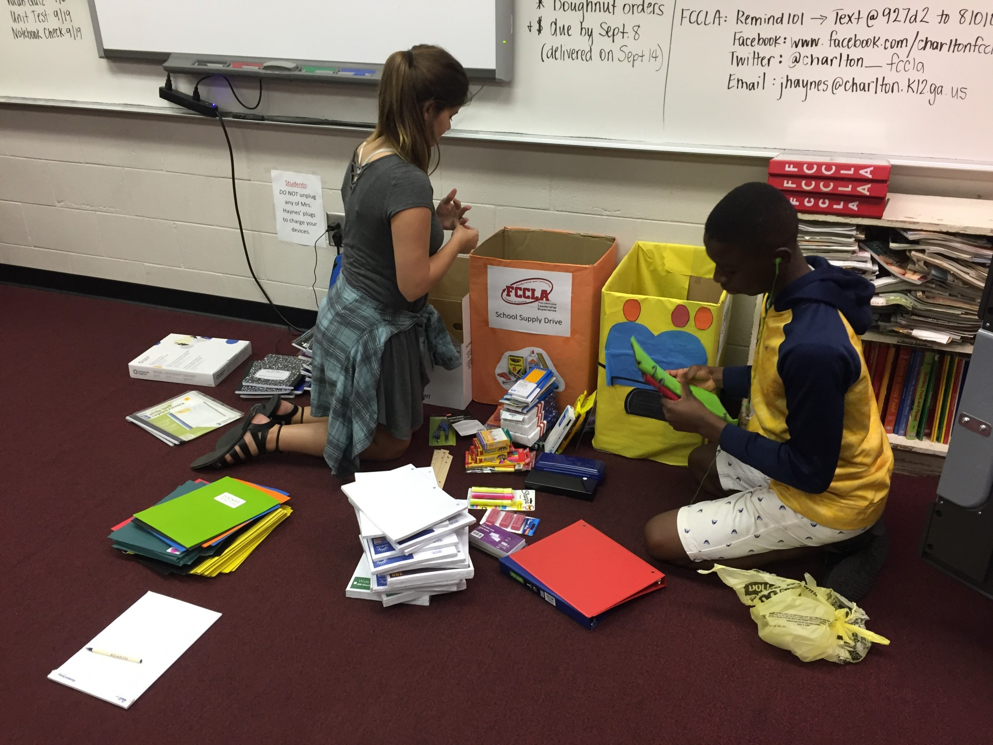 CCHS Hosts School Supply Drive
