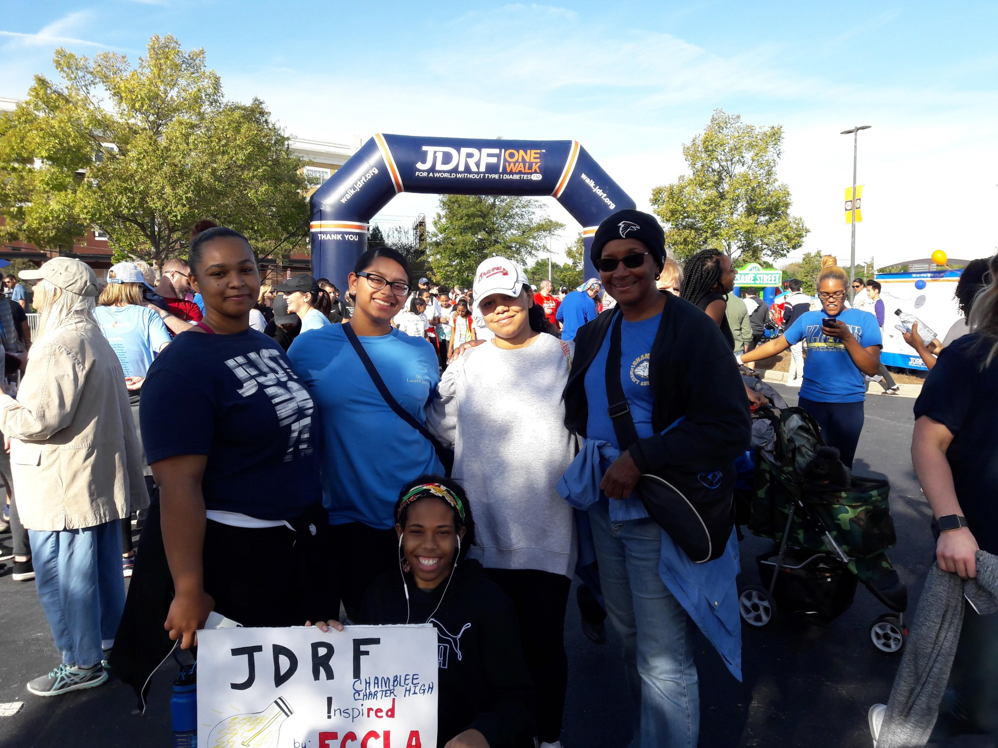 Chamblee Charter Participates in walk for Juvenile Diabetes