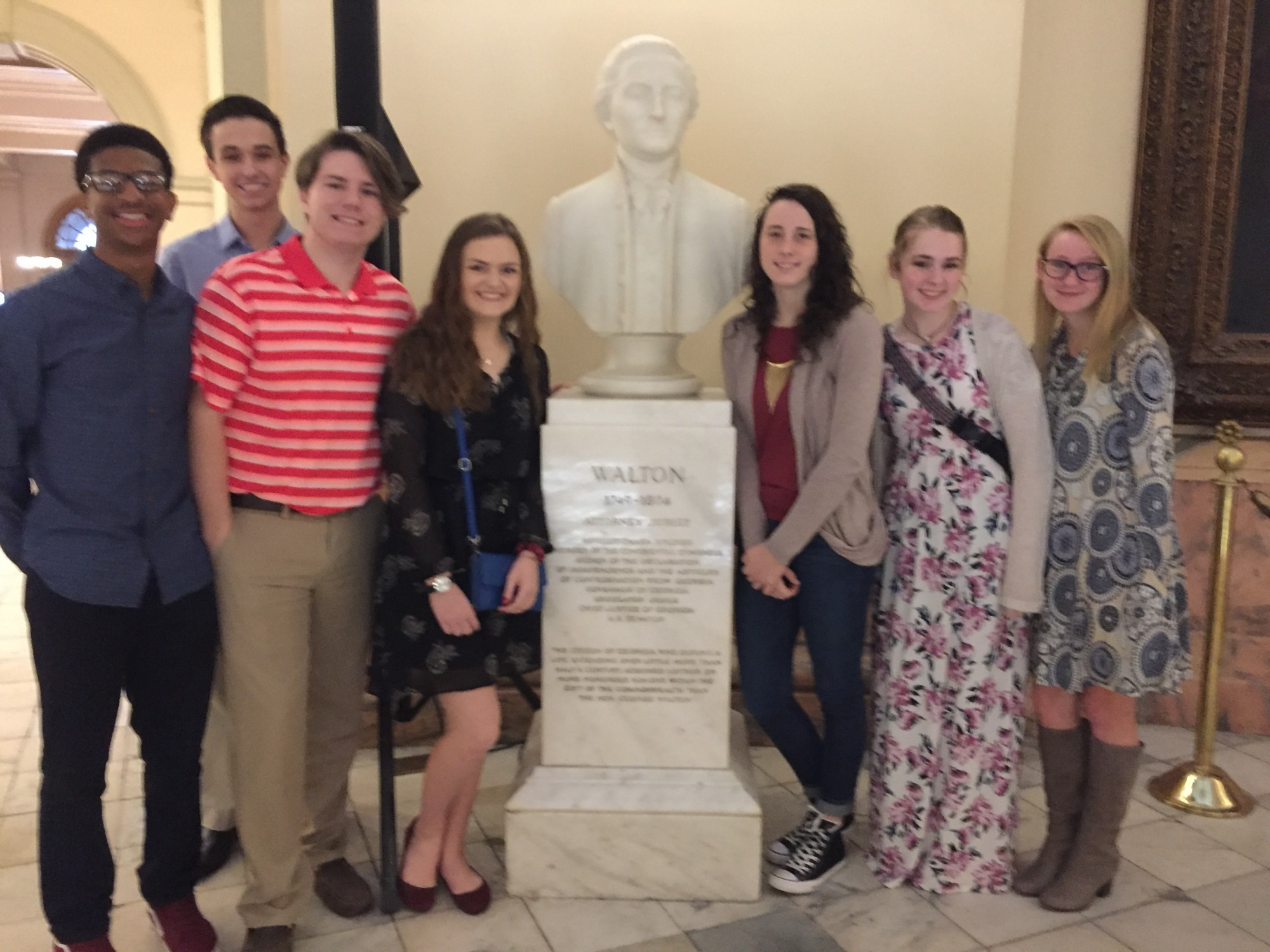 Loganville High School Students Attend Day at the Capitol