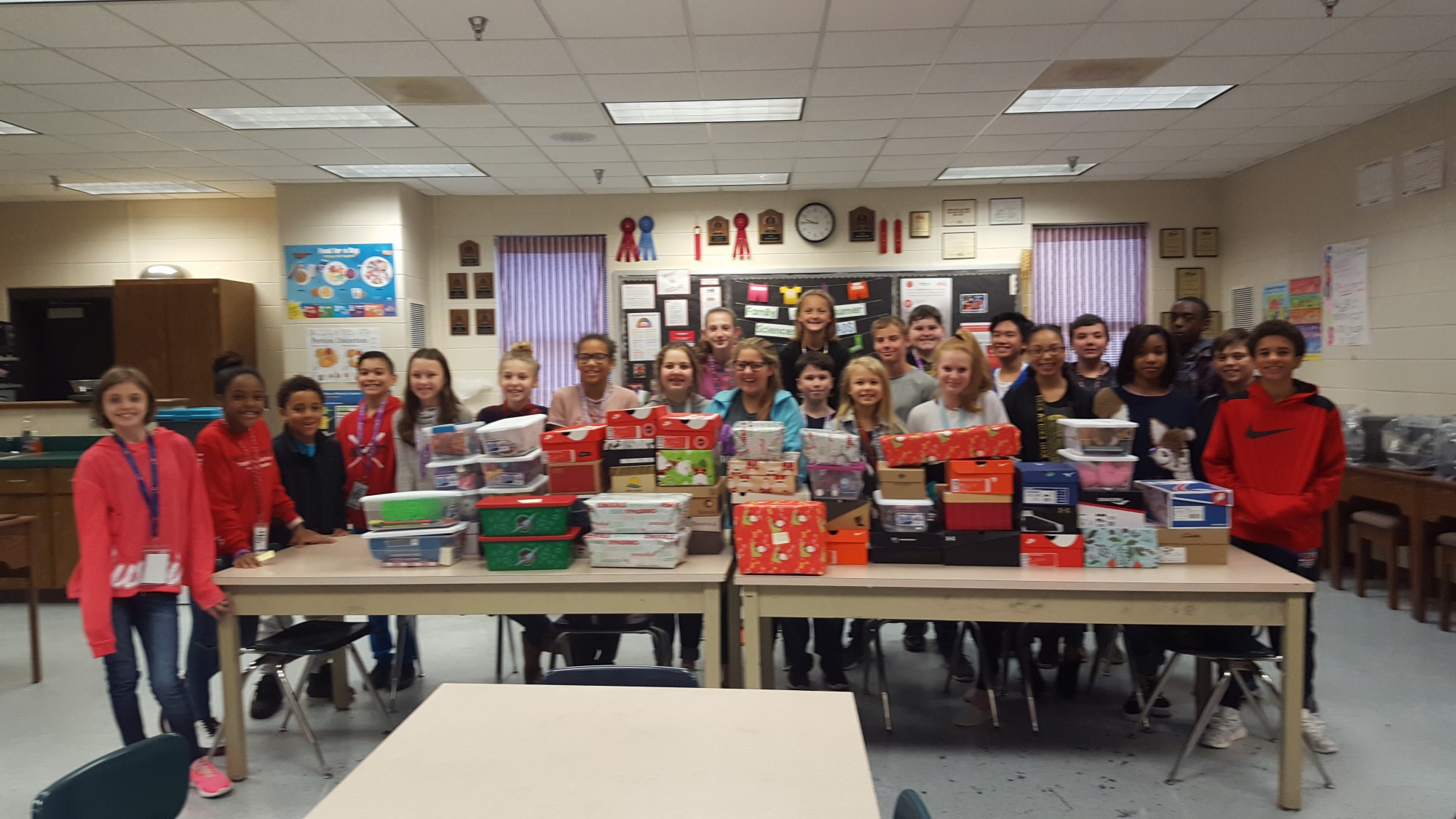 BMS Collects Shoeboxes for Operation Christmas Child