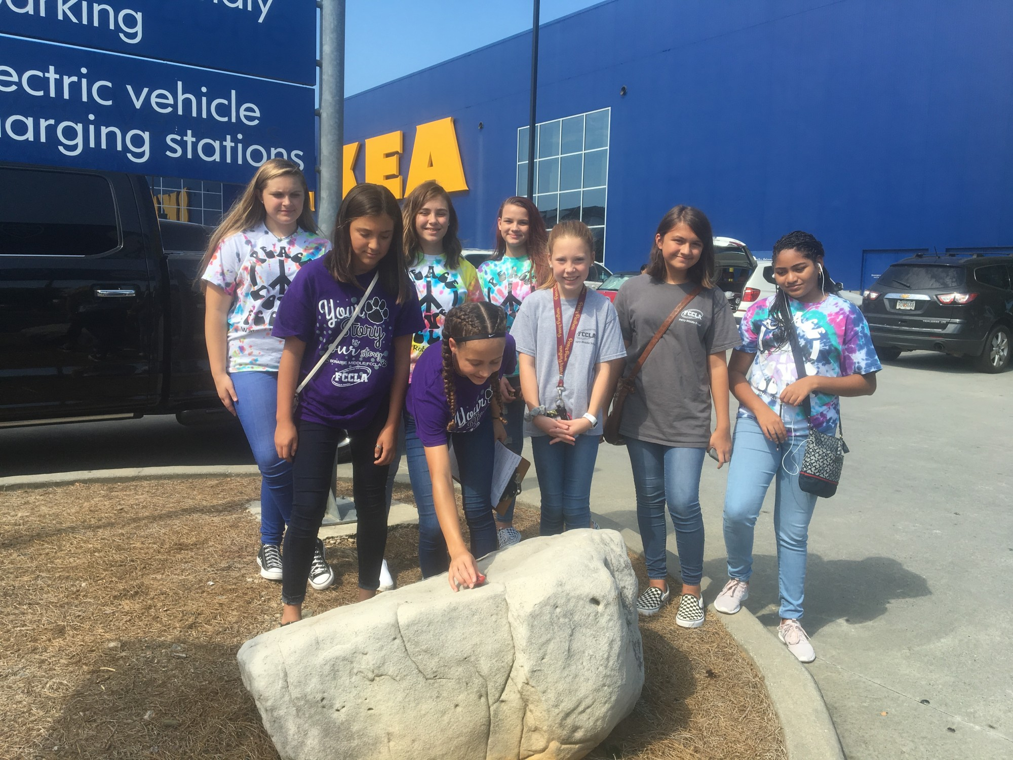 Bonaire Middle School FCCLA took on a challenge at IKEA